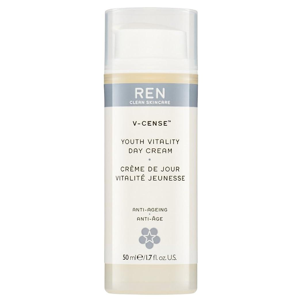 ずっと鳴り響くうなずくRenのV-焼香する若者の活力のデイクリーム、50ミリリットル (REN) (x2) - REN V-Cense Youth Vitality Day Cream, 50ml (Pack of 2) [並行輸入品]