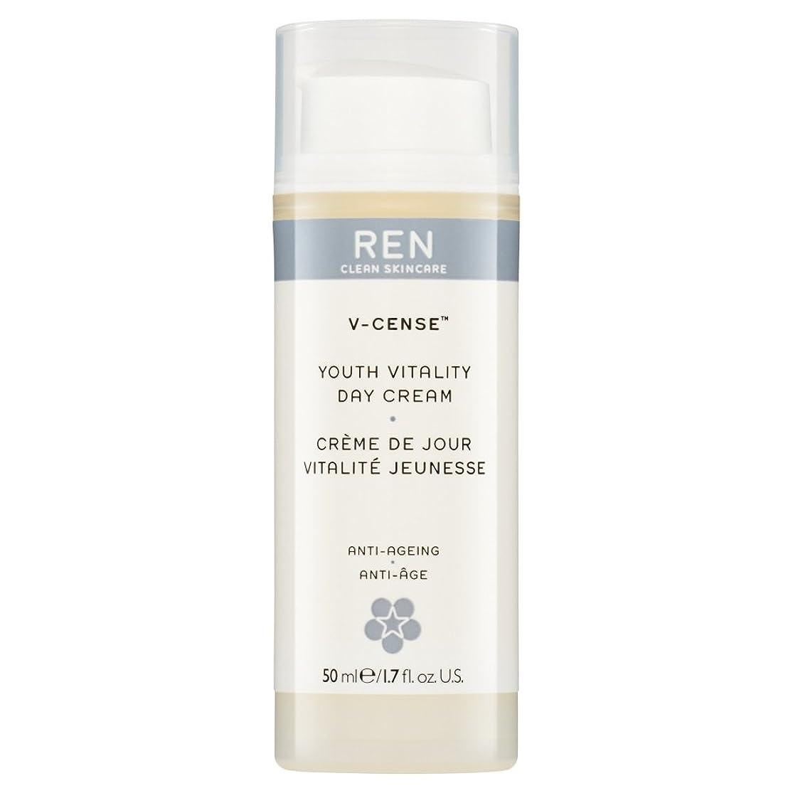 言語弾性夏RenのV-焼香する若者の活力のデイクリーム、50ミリリットル (REN) (x6) - REN V-Cense Youth Vitality Day Cream, 50ml (Pack of 6) [並行輸入品]