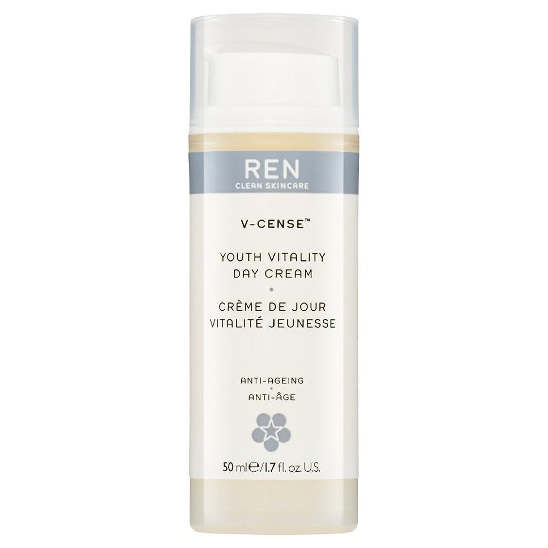 輝く哲学者腰RenのV-焼香する若者の活力のデイクリーム、50ミリリットル (REN) (x6) - REN V-Cense Youth Vitality Day Cream, 50ml (Pack of 6) [並行輸入品]
