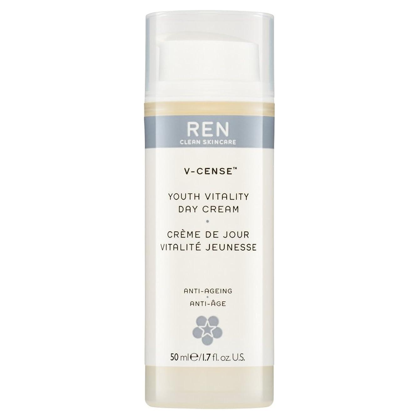 むき出し自分手段RenのV-焼香する若者の活力のデイクリーム、50ミリリットル (REN) - REN V-Cense Youth Vitality Day Cream, 50ml [並行輸入品]
