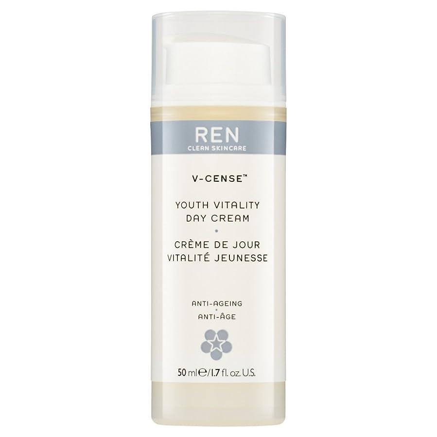 ロゴ怒る重さRenのV-焼香する若者の活力のデイクリーム、50ミリリットル (REN) (x2) - REN V-Cense Youth Vitality Day Cream, 50ml (Pack of 2) [並行輸入品]