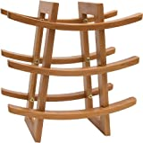 "Lipper International 8306 Bamboo Wood 9-Bottle Wine Rack, 12-5/8"" x 7"" x 13-1/8"""
