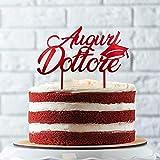 Cake Topper per Torta Laurea | Auguri Dottore o Dottoressa con Tocco | Ideale per Torta e Dolci per Graduation Party | Decorazioni Addobbi e Accessori per Congratulazioni Laurea (Auguri Dottore)