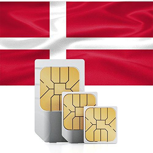 travSIM Dänemark Prepaid Daten SIM Karte + 3GB für 30 Tage - Standard,Micro & Nano SIM