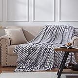 NexHome Flannel Fleece Blanket Throw Size,Lightweight Super Soft Cozy Blanket Microfiber for Living Room/Bedroom All Season,(Grey,Throw 50'X60')