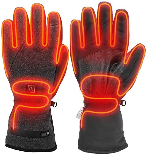 Sunbond Heated Gloves | 3M Cotton, Touch Screen, Heating Control, Rechargeable Battery, Hand Warmer for Treatment of Arthritis | for Winter Cycling, Motercycling, Outdoor Working (X-Large)