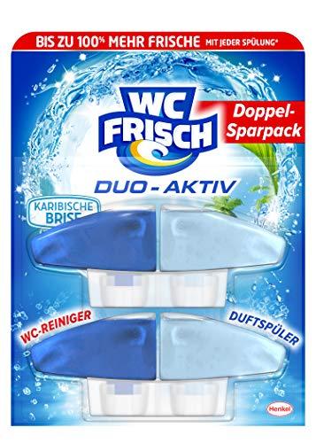 WC Frisch Duo-Aktiv Karibische Brise, WC-Reiniger und Duftspüler, Nachfüllpack (1 x 2 Stück)