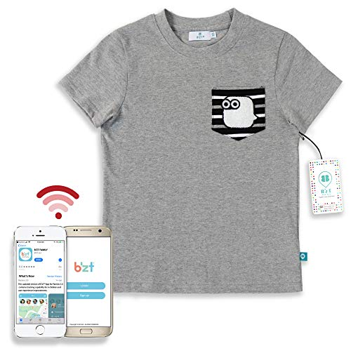 B'zT Bluetooth Tracking Kids Apparel Washable Device Embedded Clothing with Free App for...