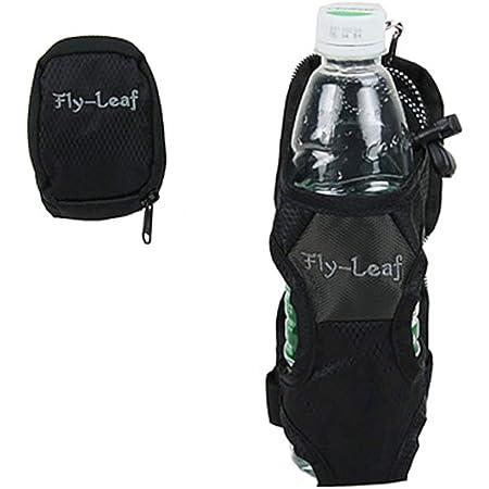 Littleliving ペット ボトルホルダーカバー 登山リュックベルトに装着ケージポケットに入るドリンクホルダー水筒ウォーターボトル折りたたみ傘も収納可 (ブラック)