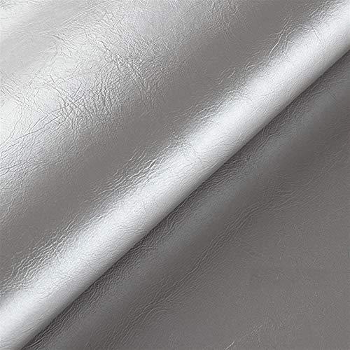 Plata 1 Rollo de Cinta de Reparación de Cuero PU Hojas de Tela de Cuero Hoja de Cuero Sintético Parche de Primeros Auxilios Para Sofá, Asiento de Coche, Muebles, Chaquetas,(Size:138×100cm,Color:Plata)