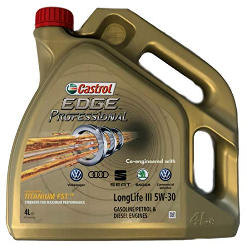 Aceite para motor Castrol Edge Professional Longlife III 5W30 original de 5 litros, homologación V W norma 504 00, 507 00