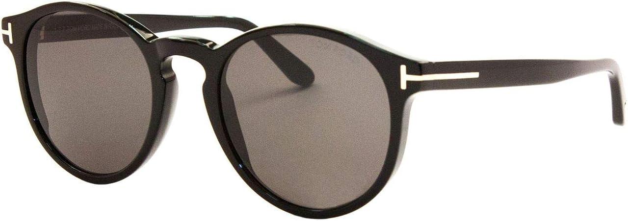 Tom Ford FT0591 01A Shiny Black Ian Round Sunglasses Lens Category 3 Size 51mm