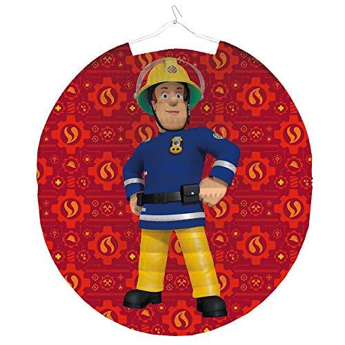 Feuerwehrmann Sam Lampion Rund 25 cm | Kinder Laterne | Dekoration Party