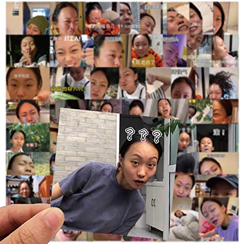 XXCKA 56 No repita el Lord Baylor Crazy Sister Yuxuan Funny Emoji Bag Graffiti Sticker Maleta Pegatina