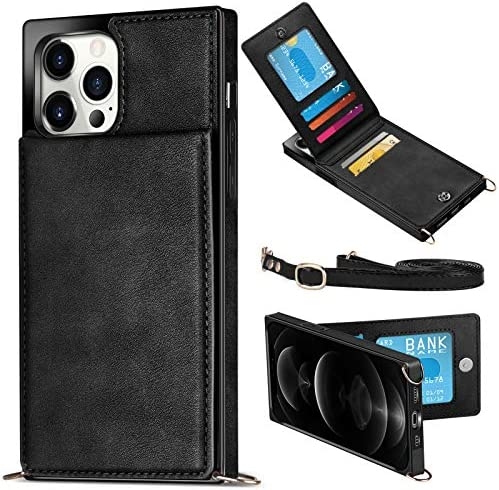 WESADN Compatible with iPhone 12 Pro Max Leather Wallet Case Girls Women Card Holder Slot Pocket product image