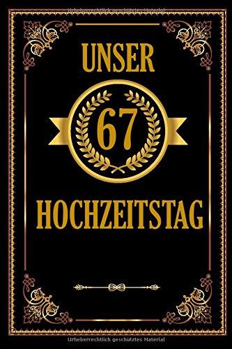 Unser 70 Hochzeitstag: Romantisches Gästebuch Zum Hochzeitstag I A5 110 Seiten Viel Platz Für...