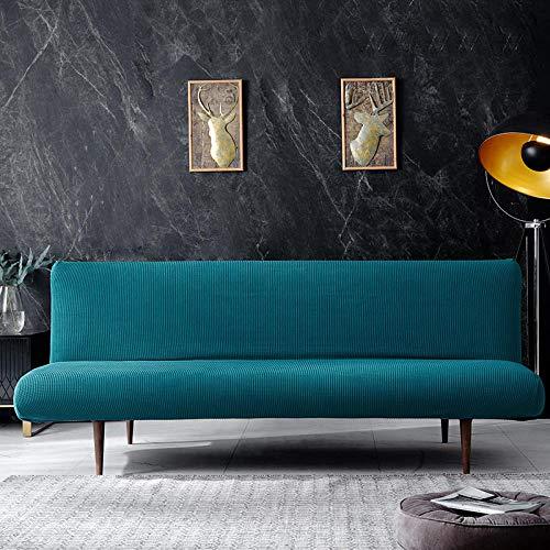 Fsogasilttlv Antideslizante Protector Cubierta de Muebles M, Funda de sofá de Color sólido sin pasamanos, Toalla con Todo Incluido, Funda de Tela elástica para sofá, cojín Verde 2160-195cm