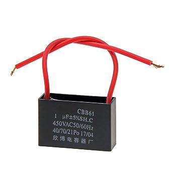 Amazon.com: YXQ 1uF Ceiling Fan Capacitor 2 Wire AC 450V 50/60HZ Electric  Running Motor Start CBB61 SH Black 3Pcs: Car ElectronicsAmazon.com