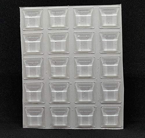 Möbel Puffer selbstklebend quadratisch transparent 2127