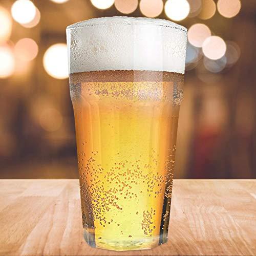 Kältebeständige achteckige Bierglasschale für Bar als Geschenk(Transparent, Octagonal cup 350ml 7.7 * 14)