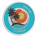 Destin, Florida Sunset Scene Embroidered Premium Patch DIY Iron-on or Sew-on Decorative Badge Emblem Vacation Souvenir Travel Gear Clothes Appliques