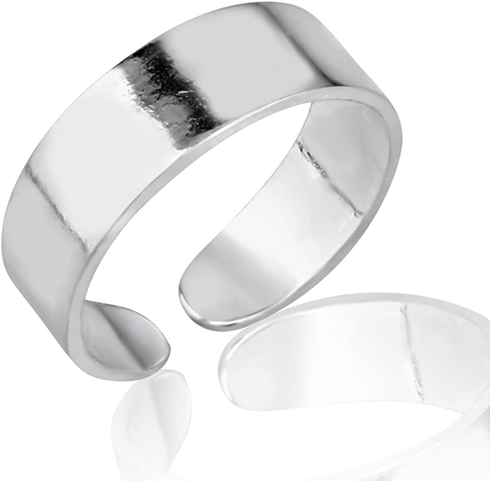 Ranking TOP1 925 Sterling Silver Simple Classic trend rank O Wide Band Unisex Minimalist