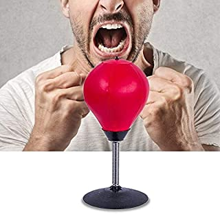 Toys&Hobbies Desktop Punching Ball Stress Relief Buster Speed Fitness Vertical Boxing Ball with Suction Holder