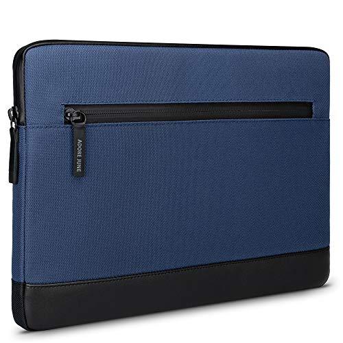 Adore June 12.9 Pulgadas Bent Funda para Tablet Azul Compatible con iPad Pro 12.9 2021 2020, Tejidos Reciclados Sostenibles, Cremalleras Impermeables y Portabolígrafos Plegable para Apple Pen.