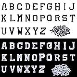 Parches de Planchar de Letras, 52 Piezas Apliques de Alfabetos de Costura con Termoadhesivas Decorativa de Reparación Bordado de A-Z para Zapatos Ropa Bolsa Bricolaje