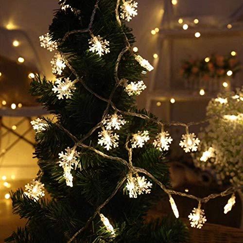 LED copo de nieve cadena de luz guirnalda de hadas decoración jardín árbol de Navidad decoración de fiesta cadena de luz batería 10m100 leds