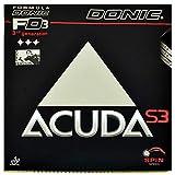 Tischtennis Holz Donic Acuda S3, Schwarz, 2,0 mm...