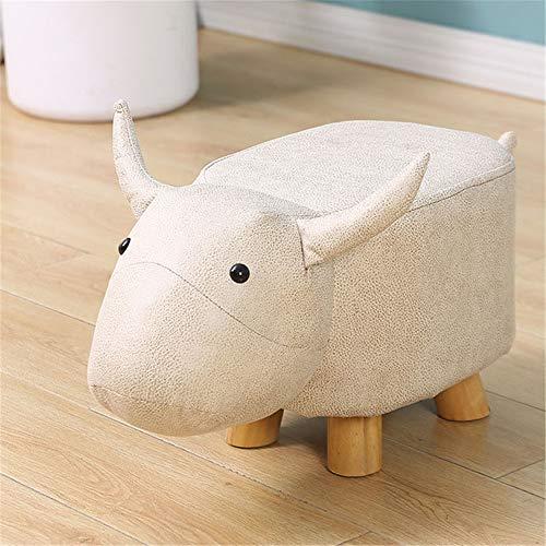 Animal Shape Hockers Gestoffeerde Poef Rest Seat Fauteuil Met Solid Steunpoten Decoratieve Kruk Voor Elke Ruimte,B