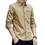 [ヴォンヴァーグ] シャツ ワイシャツ アウター カットソー トップス ボタン カジュアル クレリック お洒落 メンズ (04.2XL, ベージュ)