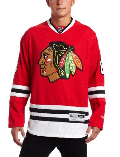 NHL Men's Chicago Blackhawks #88 Patrick Kane Reebok Edge Premier Player Jersey (Red, X-Large)
