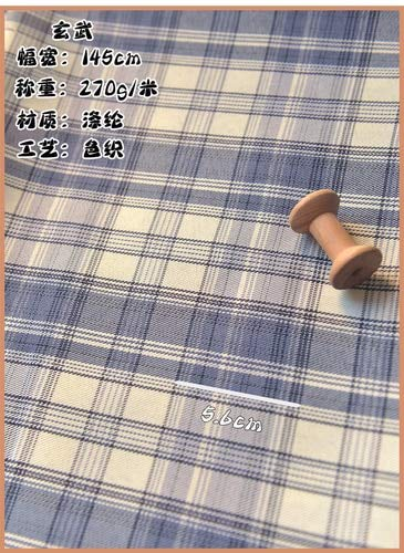 Tobs Plaid Polyester Fabric Plaid Fabric for Dress Clothing Picnic Mat Handmade Fabric