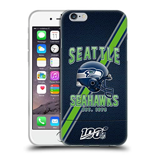 Head Case Designs Offizielle NFL Football Streifen 100ste 2019/20 Seattle Seahawks Soft Gel Huelle kompatibel mit Apple iPhone 6 / iPhone 6s