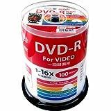 HI-DISC 録画用DVD-R HDDR12JCP100 (CPRM対応/16倍速/100枚)