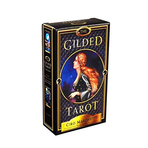 WE-WHLL The Gilded Tarots Baraja de 78 Cartas y guía electrónica Tarots Game Party Juego de Mesa Oracle Card