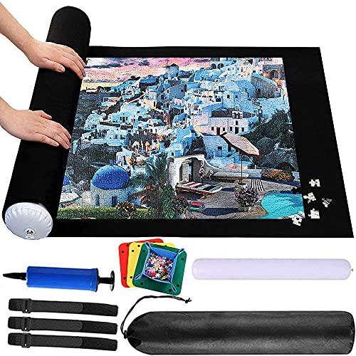 Tappeto puzzle Feltro,Puzzle Roller,Tappetino Puzzle 3000 Pezzi, Tappetino Puzzle, Blocco Puzzle Custodia da Viaggio,Adulti Colla per Puzzle Sorter Accessori Puzzle Mat Roll Pad Port