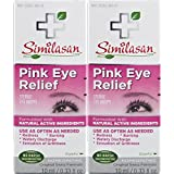 Similasan Pink Eye Relief Drops 0.33 fl oz 2 Count, for Temporary Relief from Red Eyes, Itchy Eyes, Burning Eyes, and Watery Eyes, Formulated with Natural Active Ingredients