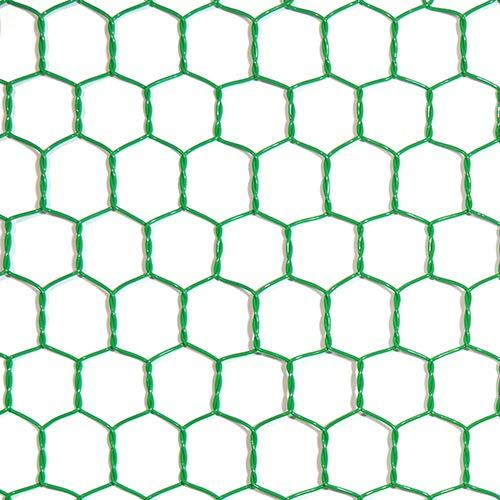 工作用ネット 亀甲金網 グリーン 10160143 線径0.85mm 450幅x1m