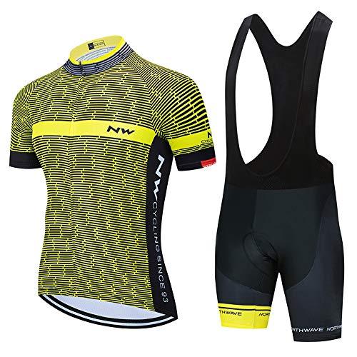 Bike Abbigliamento Ciclismo PRO Team con Pantaloni Corti da Uomo, Estivo