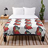Cartoon Video Game Character Villian Insane Fawful I Game - Blankets Fleece - Sherpa - Woven Printed Lightweight Microfiber Bedding/Sofa Blanket- Customize