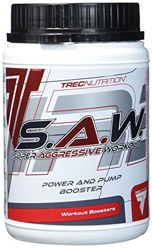 Trec Nutrition S.A.W, Pre-Workout Formel - Geschmack: Schwarze Johannisbeere-Zitrone, 1er Pack (1 x 400 g)