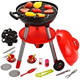 JOYIN 24 PCS Little Chef Barbecue BBQ Cooking Kitchen Toy Interactive Grill Play Food Cooking Playset for Kids Kitchen Pretend Play