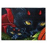 Vampiro Halloween ojos de gatos pintura de dientes de 520 piezas rompecabezas divertidos regalos creativos para niños adultos en cumpleaños Navidad