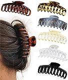 6 pinzas grandes para el pelo para mujeres de 4,3 pulgadas, para cabello grueso y fino, antideslizantes, con diseño de mariposa, accesorios de moda para niñas