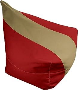 ArtVerse NFS San Francisco Football Stripes Bean Bag w/Filled Insert, 38 x 42 x 29, Red and Gold
