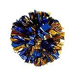 FinalZ 13'' Cheering Squad Spirited Fun Cheerleading Kit Cheer Poms Pack of 2 (Blue+Gold)