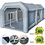 Machabeau Tente Camping Gonflable Tente Tunnel Camping (12x5x4m)